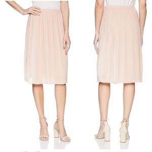New $89 Adrianna Papell Nude Pleated Midi Skirt